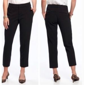 Madewell Ankle Straight Leg Black Cotton Trousers